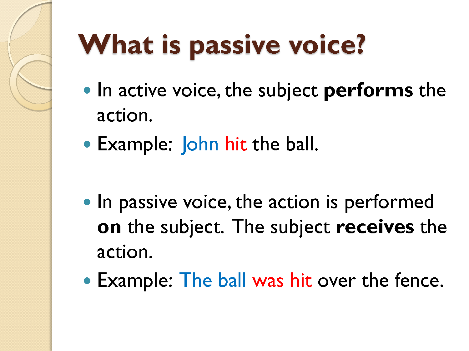 English Intermediate Ii U3 Active And Passive Voice