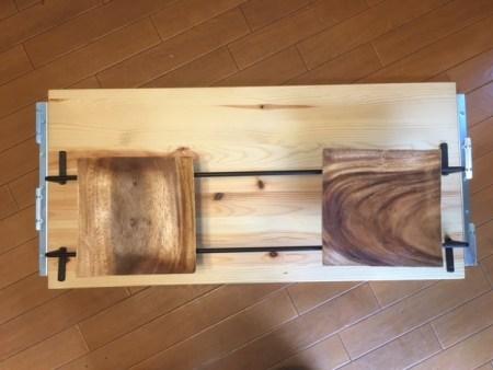 DIY アイアンバー 食器棚