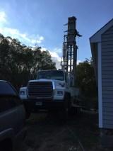 big rig at dusk