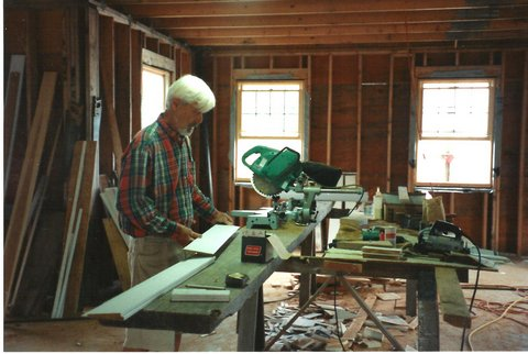 my dad in the middle of another project