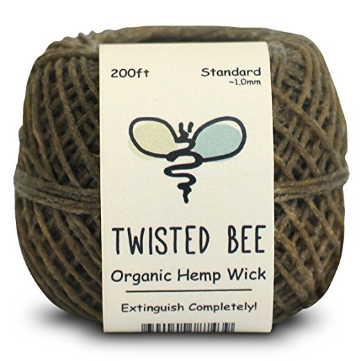 Twisted Bee Organic Hemp Wick + Wrapper