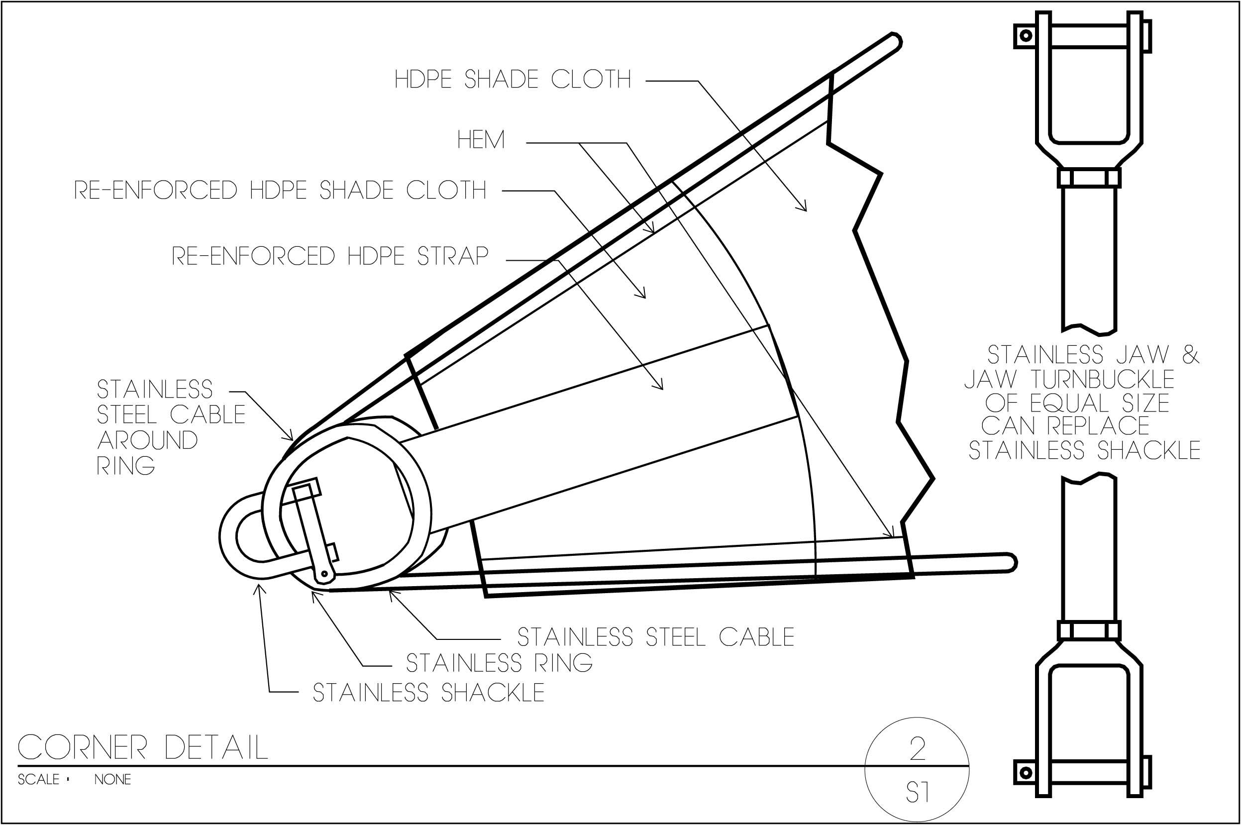 Diagram Of Eating Custom Shade Sails Shade Sails Llc