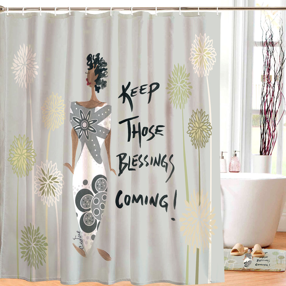 keep those blessings coming shower curtain