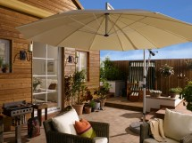 Large Offset Patio Umbrella - Mezzo Cantilever Umbrellas