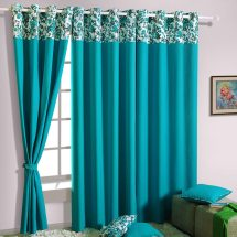 Turquoise Living Room Curtains