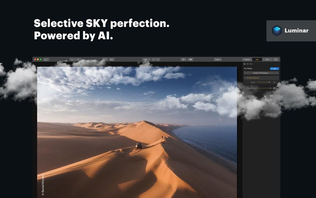 Skylum releases Luminar 2018 with AI Sky Enhancer filter.
