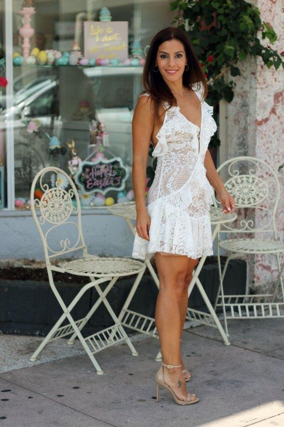 tati lace ruffle dress for love and lemons