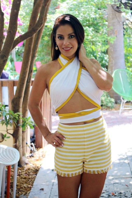summer yellow shorts lpa