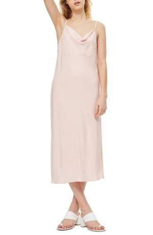 Topshop Cowl Neck Midi Slip Dress