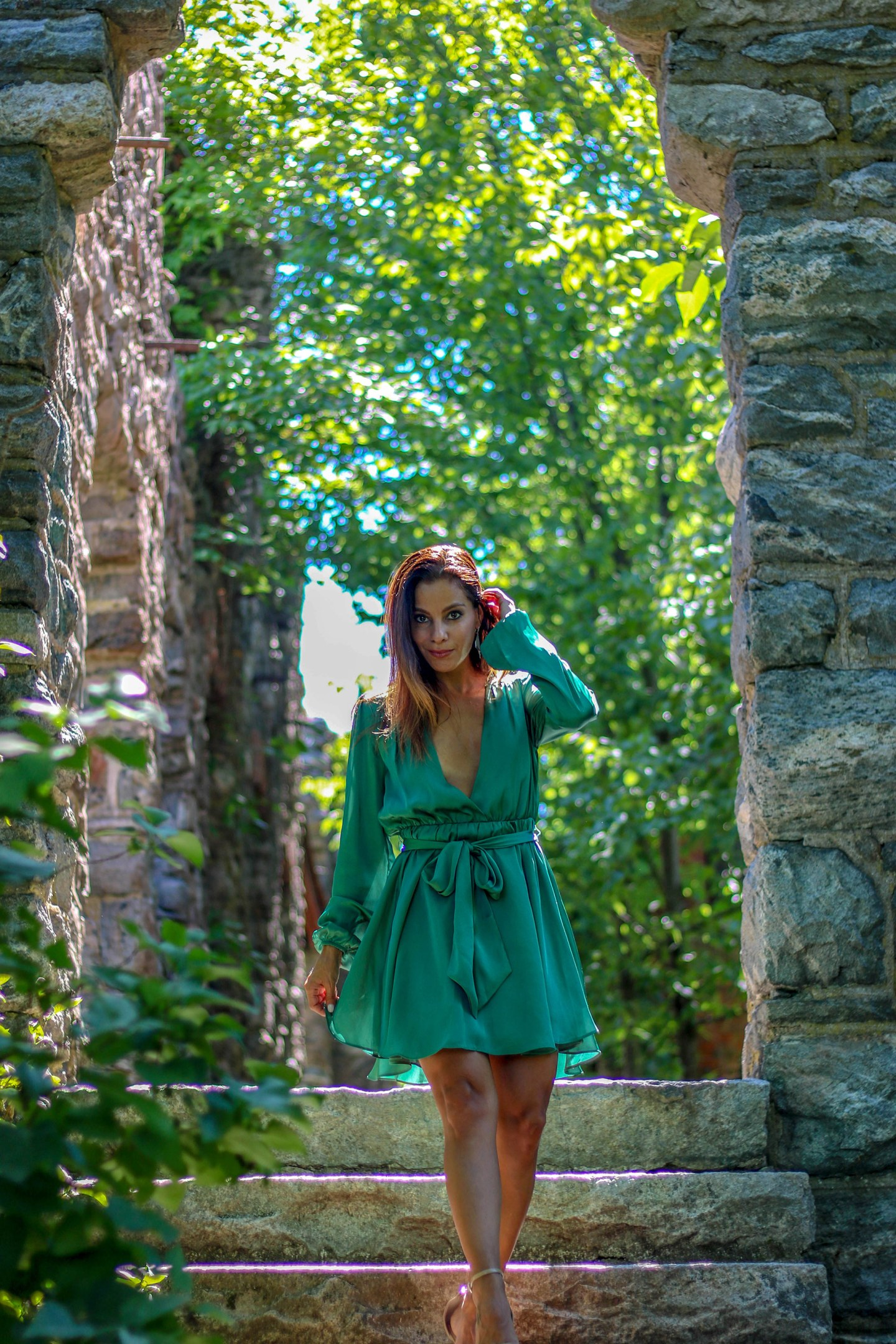 ivy green dress