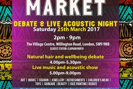 Inspirational YOU – Pop Up Market, Natural hair Debate & Acoustic Evening