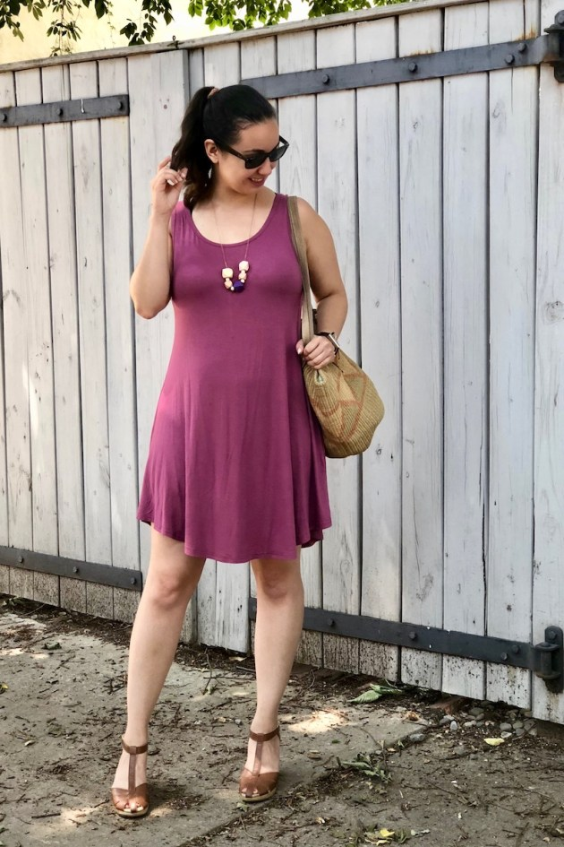 swing dress and clogs