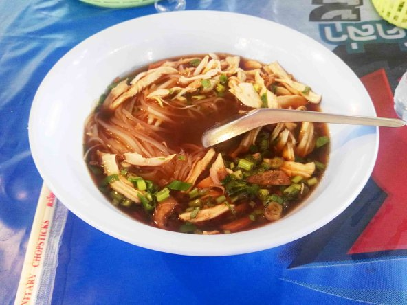 noodle gourd soup with chicken