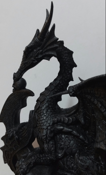 close up of dragon statue