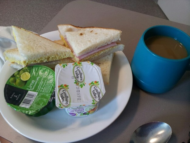 Hospital food is yummy here.