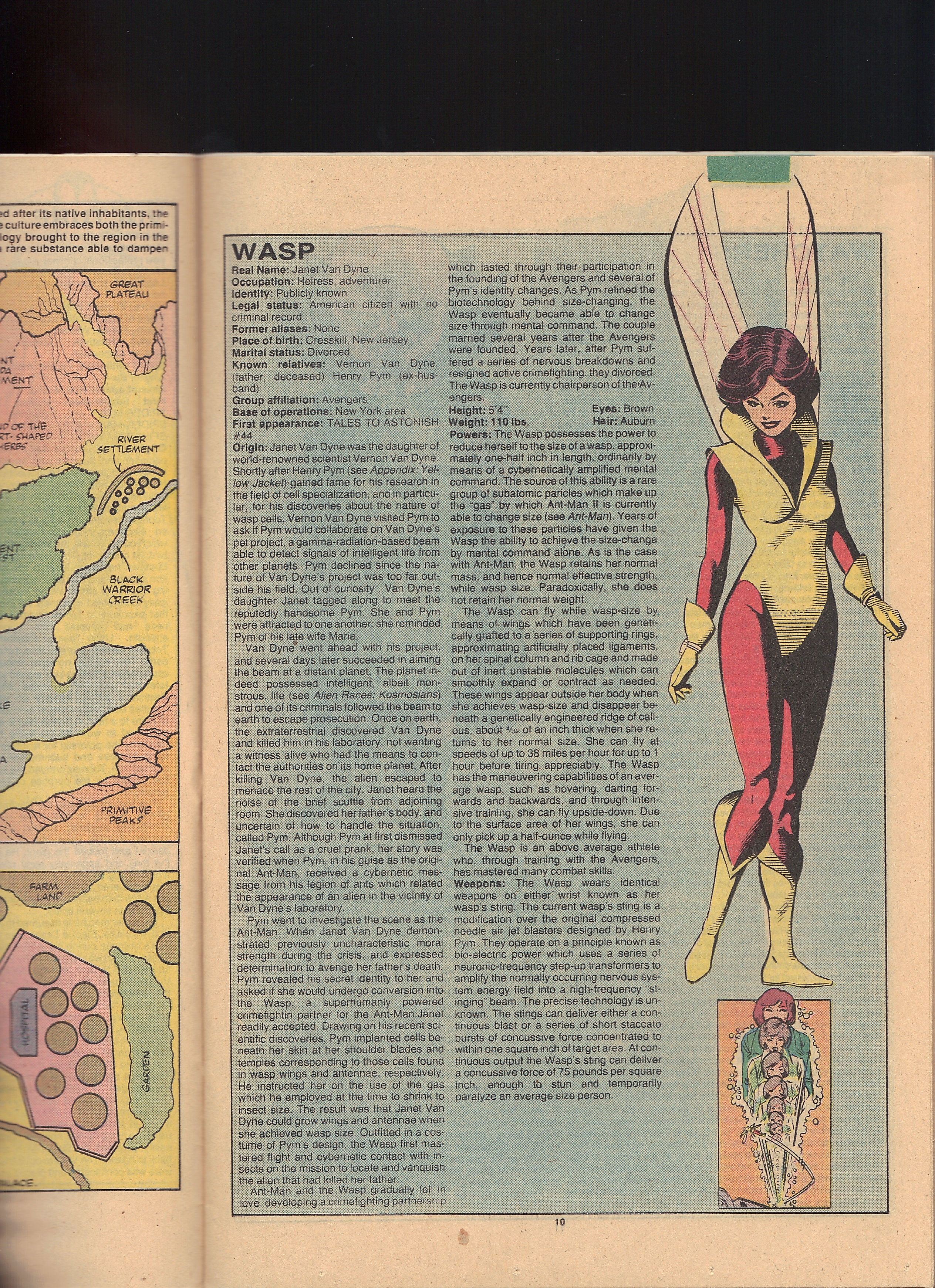 Official Handbook of the Marvel Universe 12  Shadow and Flame with Magik