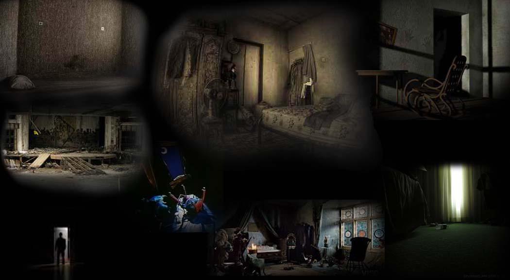 Dark Gothic Girl Wallpaper Scary Empty Room
