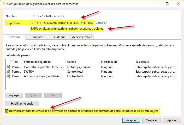 como arreglar error permisos windows 10