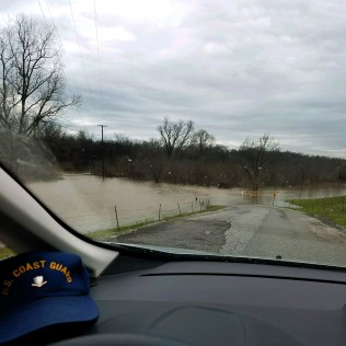 Picture from David of flood