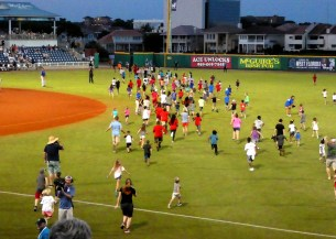 Minor leagues have so much fun doing things like the cockroach race!