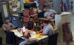 Man those techs work hard!! Needing a nap at lunch!