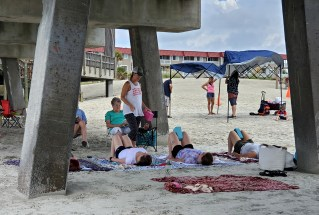 Yoga on the beach!