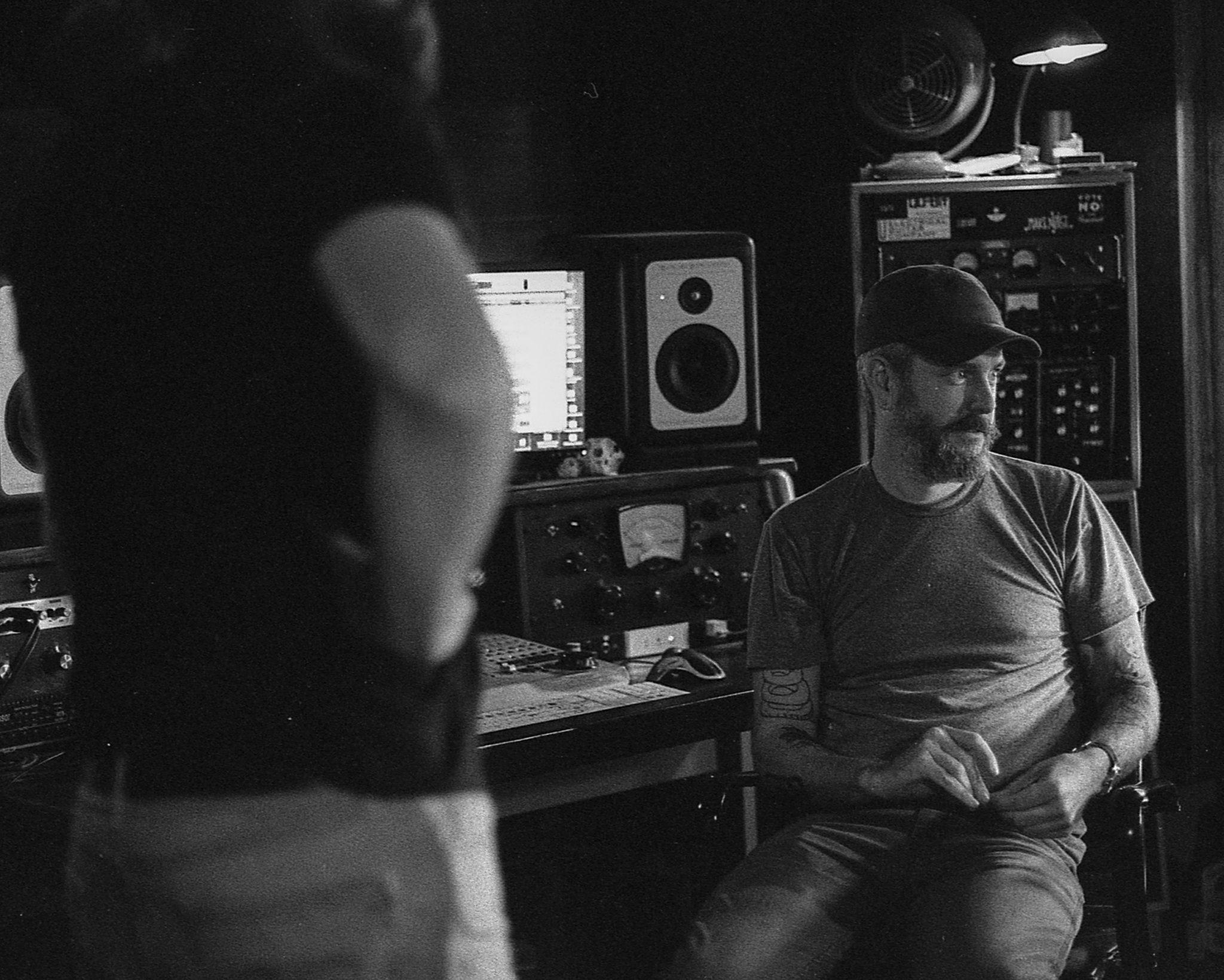Dead Emperors recording with Luke Tweedy at Flat Black Studios near Iowa City