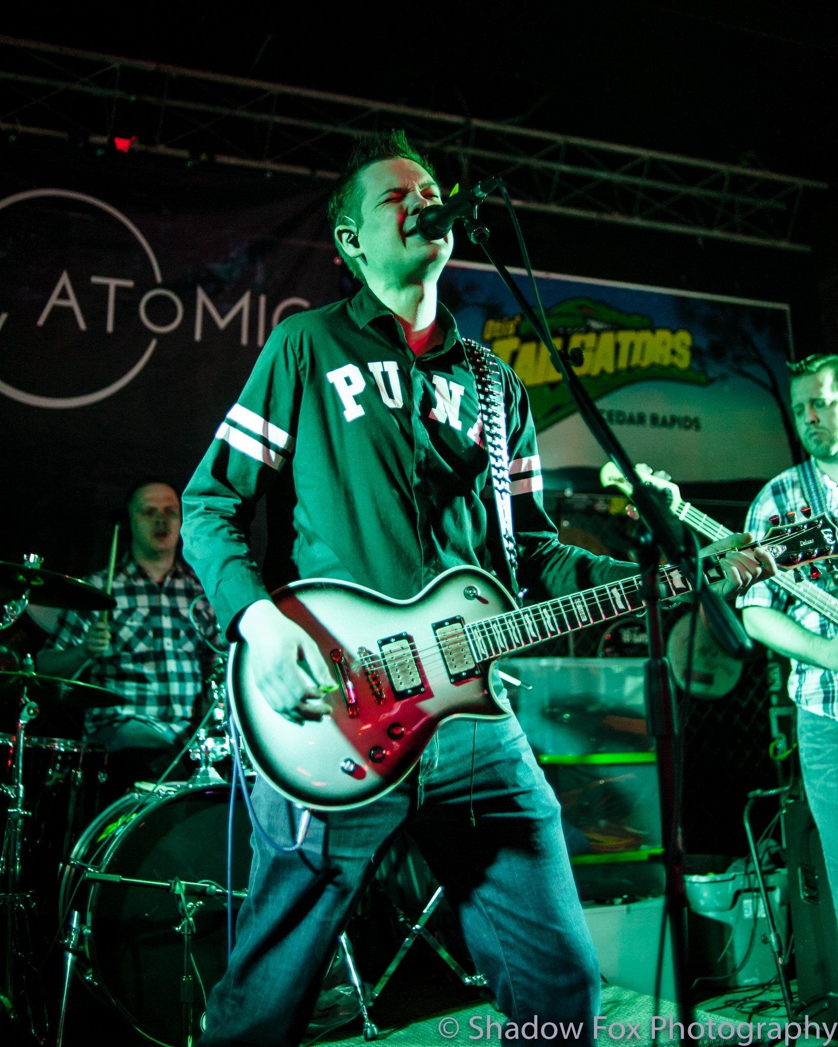 I, Atomic playing at Tailgators in Cedar Rapids, Iowa