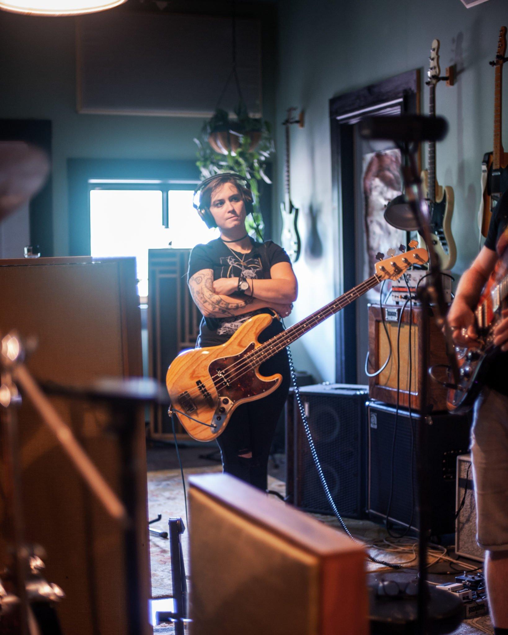 Dead Emperors recording at Flat Black Studios near Iowa City