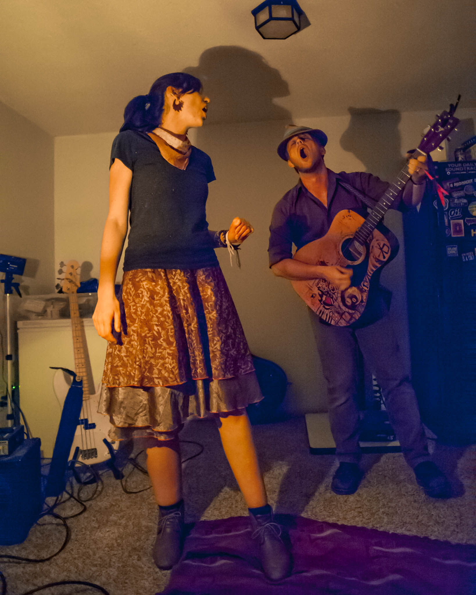 Insomniac Folklore playing at our house show in Cedar Rapids, Iowa