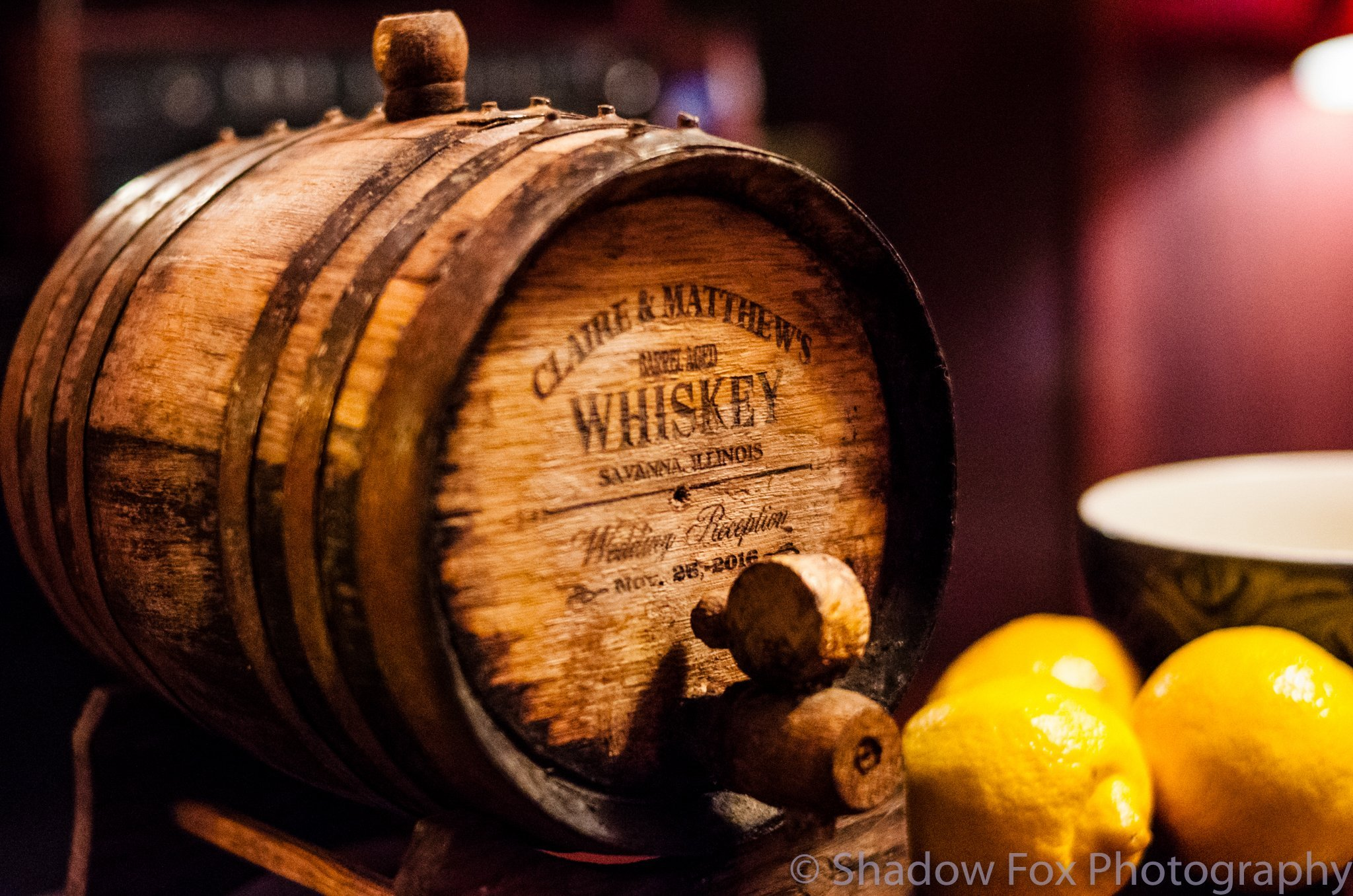 The best barrel-aged whiskey at a wedding