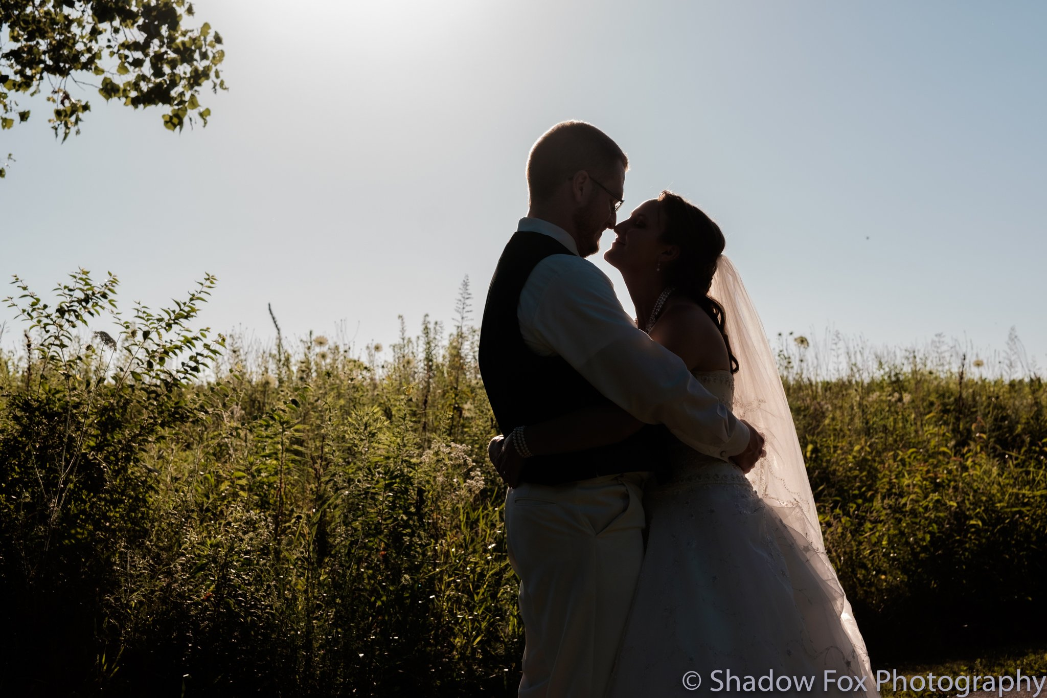 Beautiful outdoor summer wedding in eastern Iowa