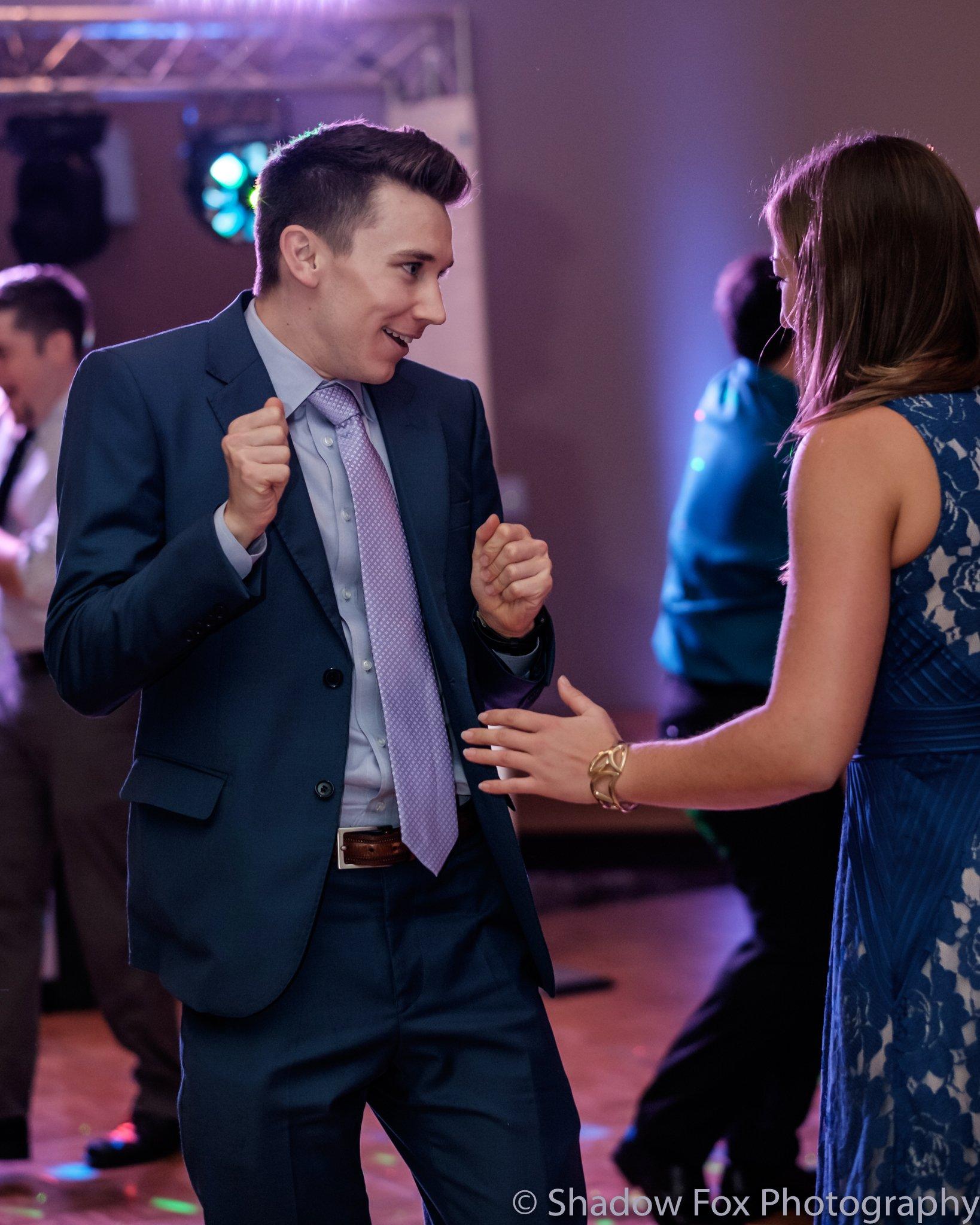 Photo of dancing at wedding reception