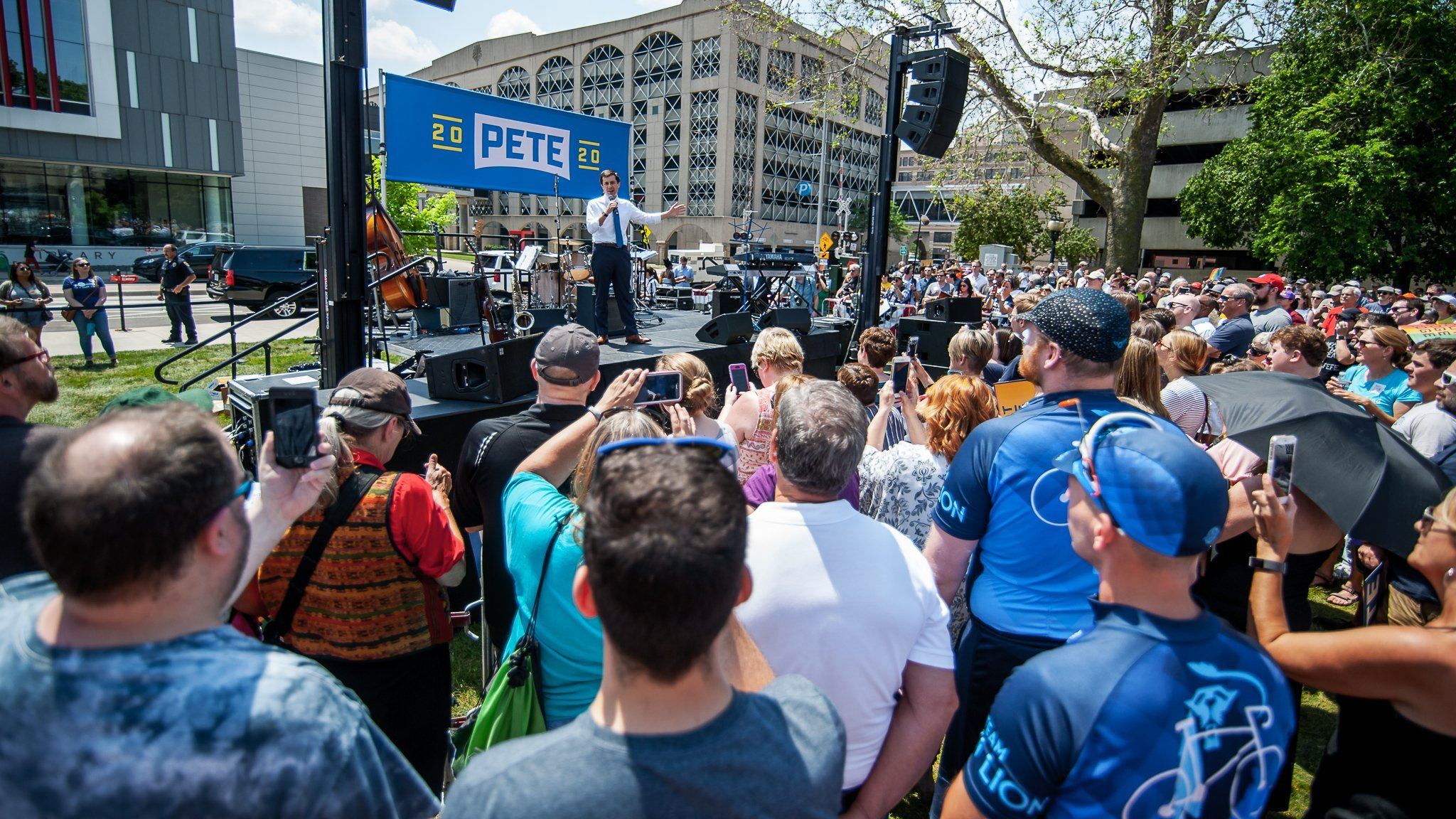 South Bend, Indiana Mayor Pete Buttigieg speaking at a presidential campaign event in Cedar Rapids, Iowa