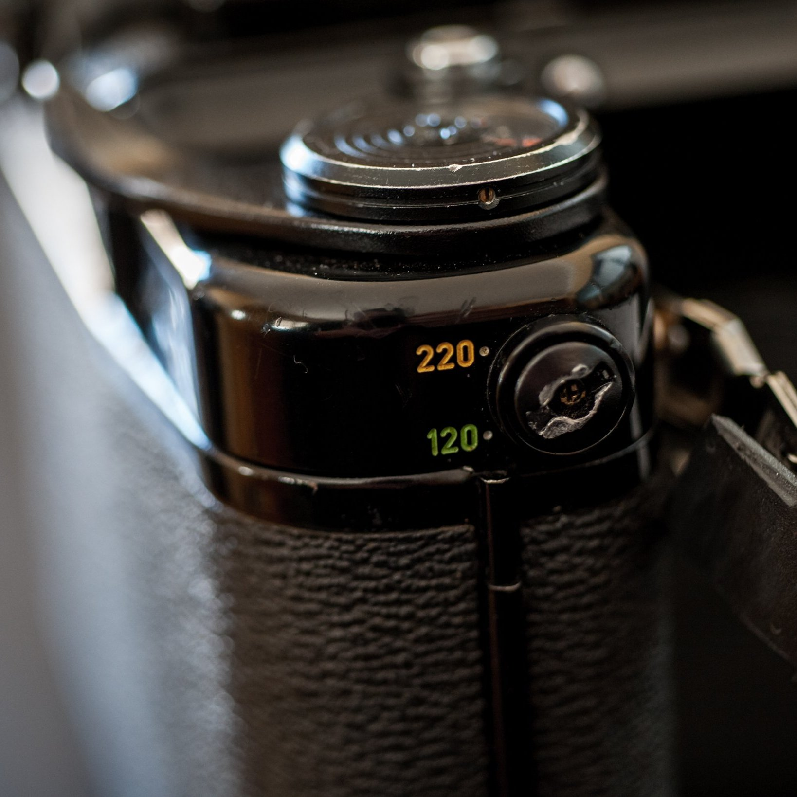 Detailed photo of the Pentax 6x7 I used in this review