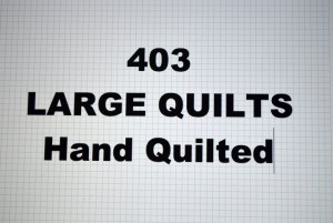 403-00.LARGE QUILTS