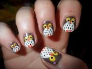 extraordinary nail design- owl