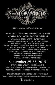 Join the Facebook Page: https://www.facebook.com/shadowwoodsmetalfest