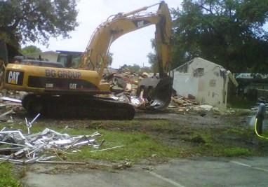 School campus demolition September 2011