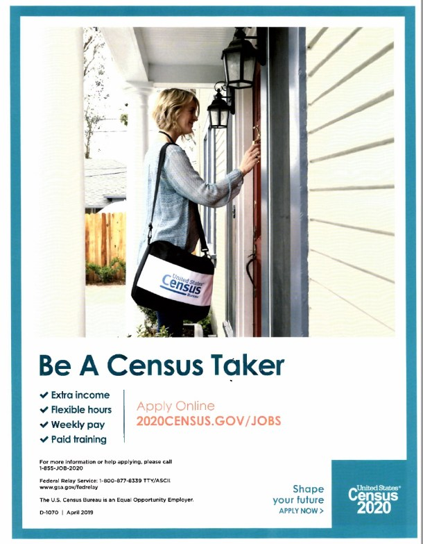 Job Opportunity for the US Census