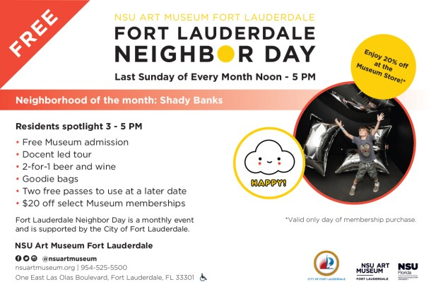 Fort Lauderdale Neighbor Day at the NSU Art Museum