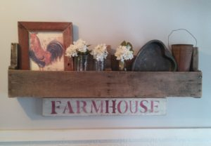 shady oak and sassafras creating a farmhouse with a pallet shelf and vintage items