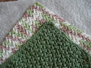 crochet dishcloth modified bean stitch