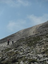 Pilgrims facing the final climb.