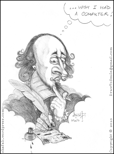 Caricature/Cartoon – William Shakespeare