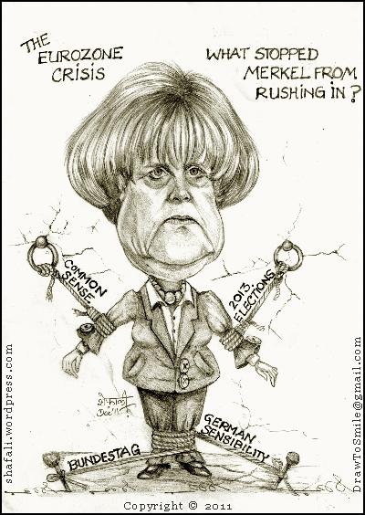 german chancellor caricature  Shafalis Caricatures