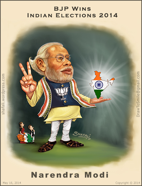 Narendra Modi Funny Cartoon Photos : narendra, funny, cartoon, photos, Caricature/Cartoon, Narendra, Indian, Elections, 2014., Shafali's, Caricatures,, Portraits,, Cartoons
