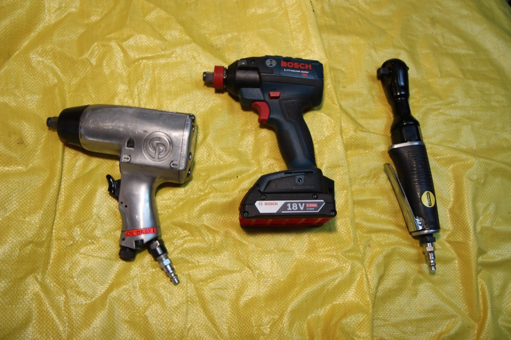 medium resolution of a cordless impact wrench like the one in the middle is a very useful tool i would highly recommend for anyone doing much work on cars