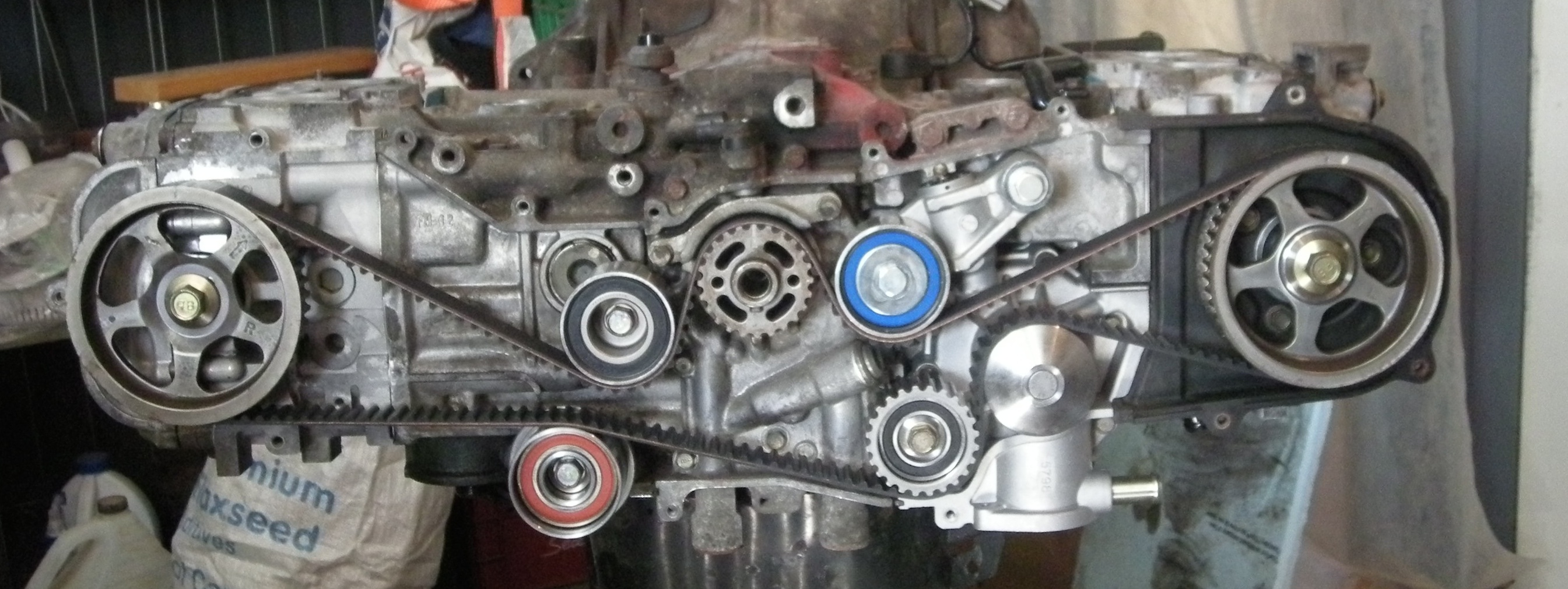 how to set timing timing belt change on a subaru sohc ej25 rh shagbarkblog wordpress com [ 2689 x 1011 Pixel ]