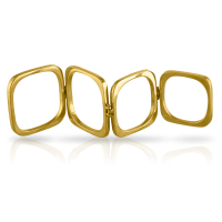 18K YELLOW GOLD SQUARE KNUCKLE RING  Shah & Shah